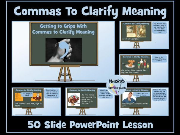 Commas To Clarify Meaning PowerPoint Lesson