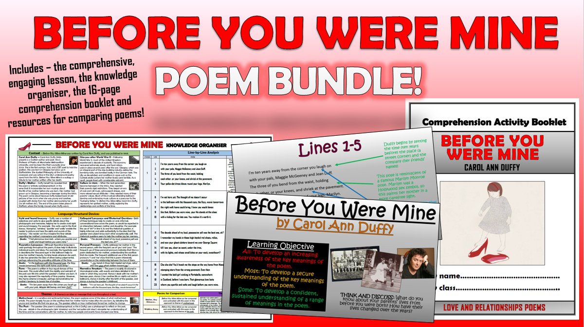 Before You Were Mine Poem Bundle!