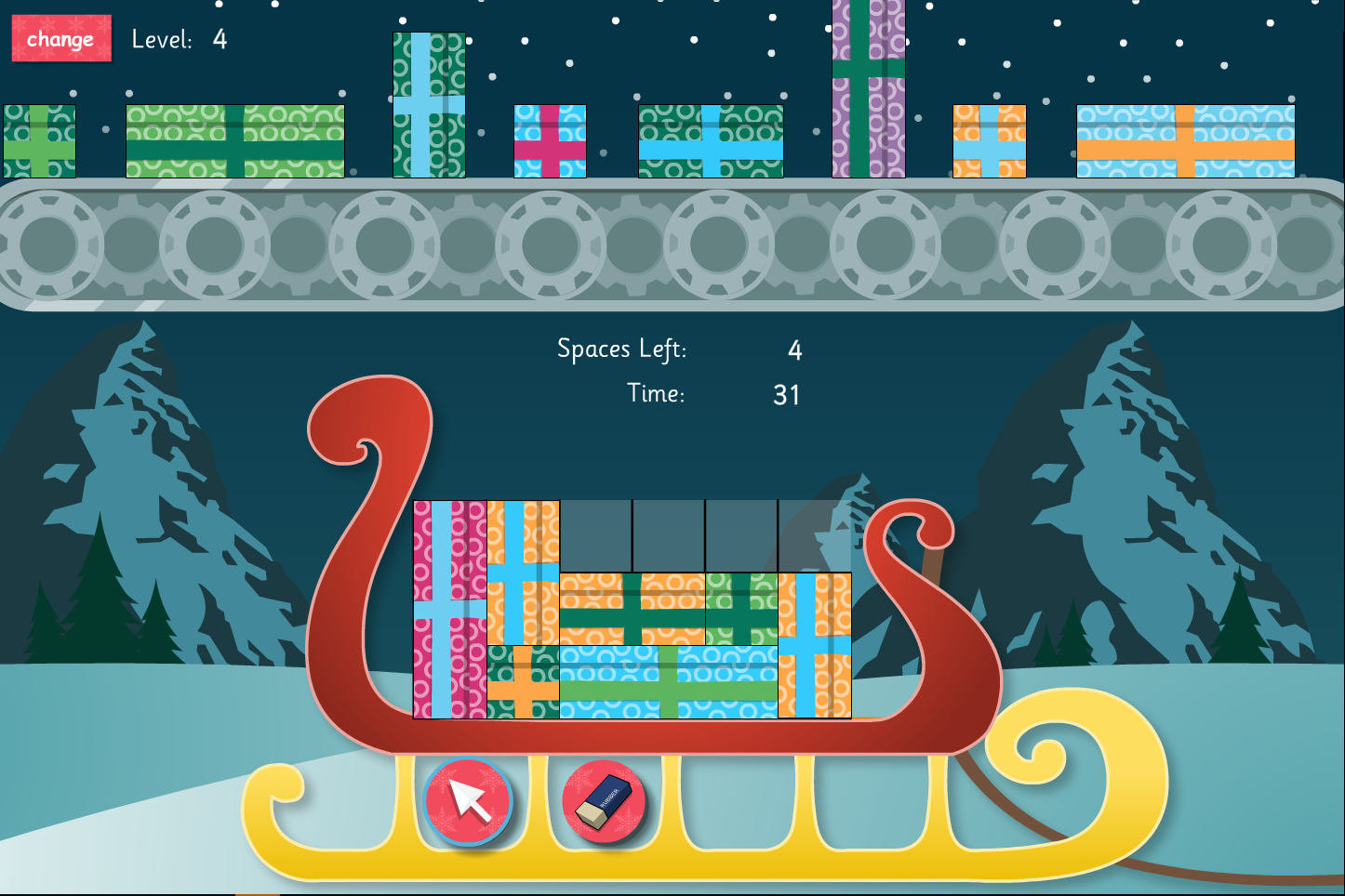 Present Stacker Interactive Game - Christmas KS1