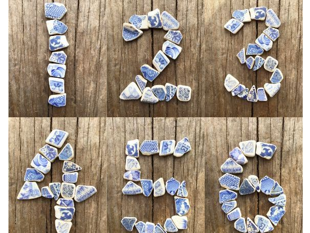 Mosaic Numbers and Shapes for Classroom Maths Activities and Displays
