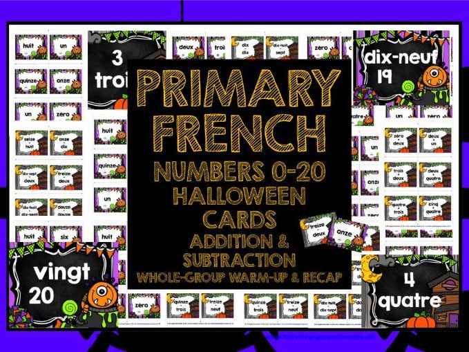 PRIMARY FRENCH HALLOWEEN NUMBERS 0-20