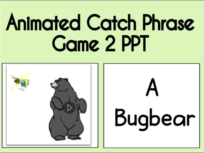 Animated Catch Phrase Game 2