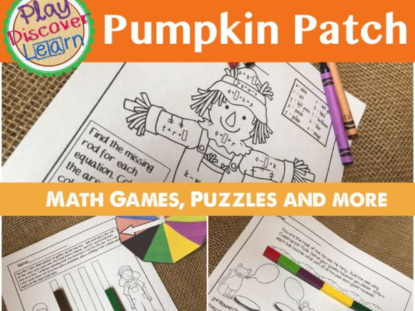 PDL's Pumpkin Patch Math Puzzles and Games for Cuisenaire® Rods