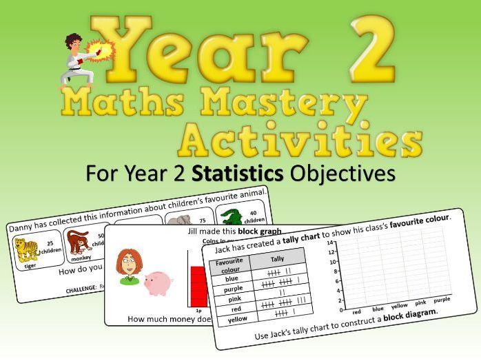 Statistics Mastery Activities – Year 2