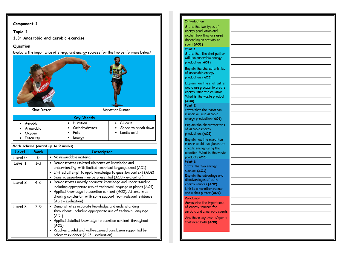 Burnsinwigans Shop Teaching Resources Tes Electricity Quizzes And Revision Notes For Key Stage 3 Gcse Two Pe Edexcel 9 1 10 X Structure Strip Part 2