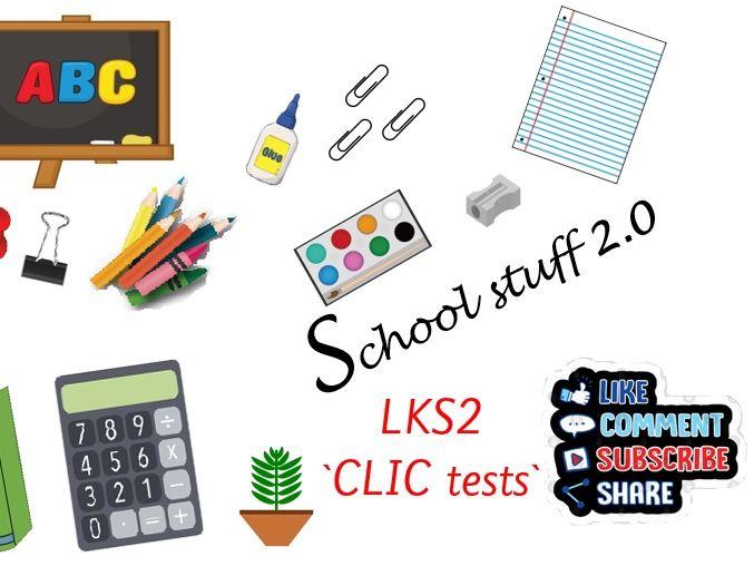 LKS2 Big Maths CLIC tests