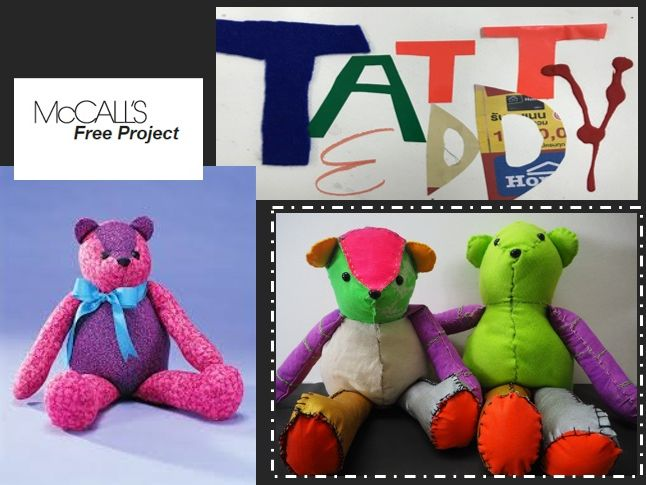 Tatty Teddy Bear Textile Project