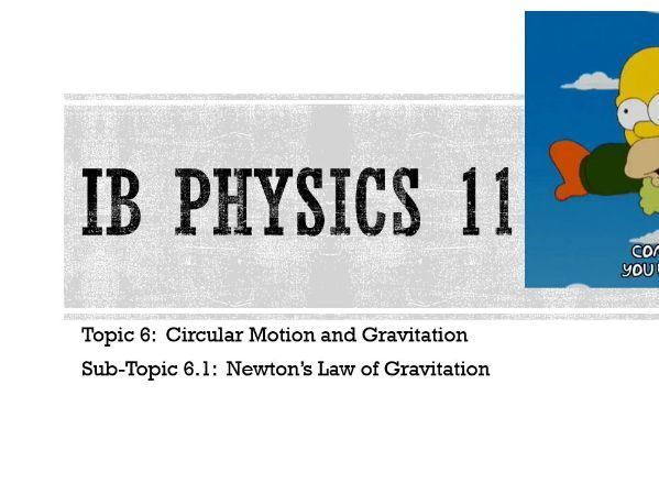IB DP Physics Notes: 6.2 Newton's Law of Gravitation