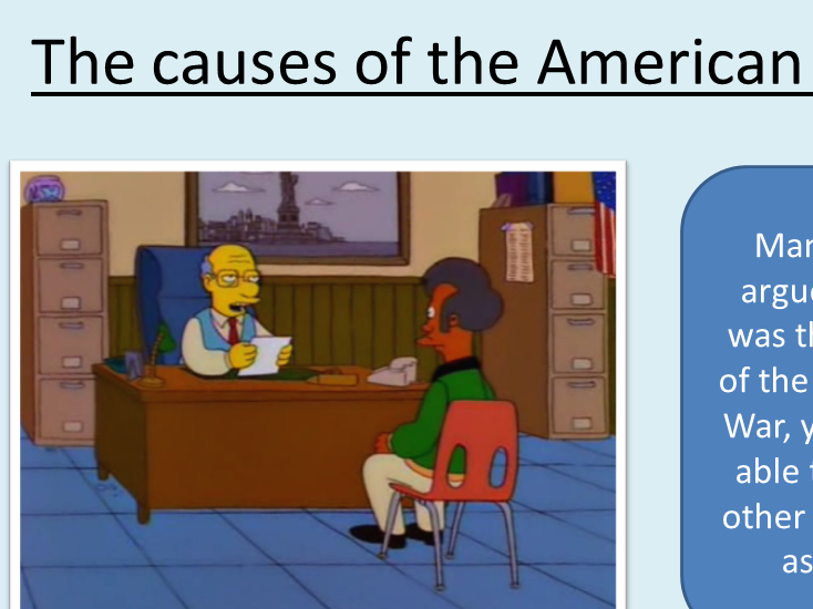 Completely resourced lesson on the causes of the American Civil War for new GCSE spec