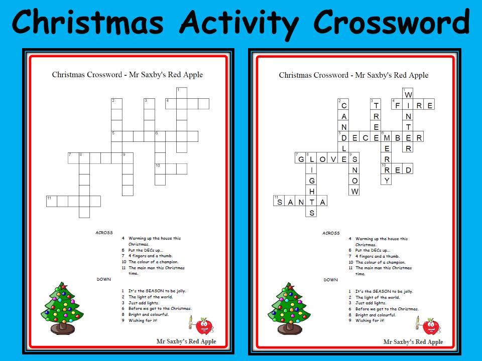 Christmas Crossword Activity
