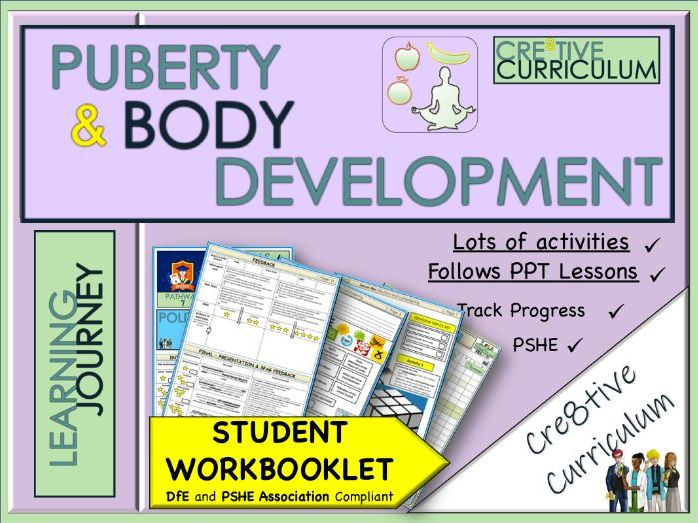 Puberty Work Booklet KS3 KS2 - PSHE