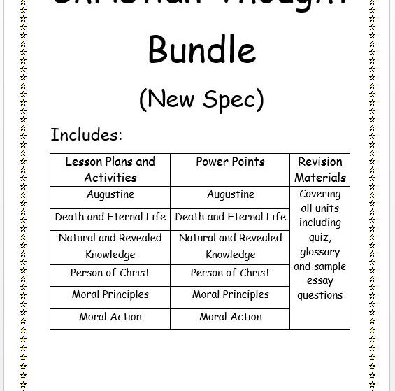 First Year Christian Thought New Spec Bundle