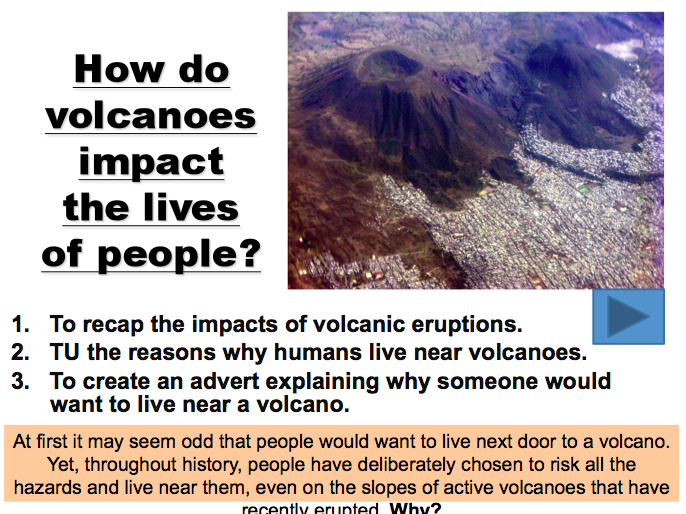 Lesson 4: Effects of a Volcano