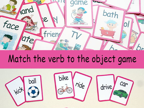 Match the verb to the object game