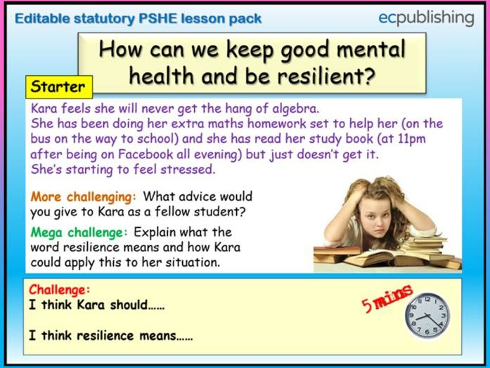 Resilience + Emotional Wellbeing PSHE