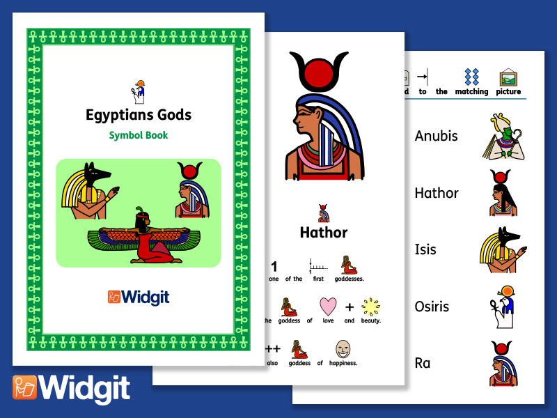 Egyptian Gods History Book And Activities With Widgit Symbols By