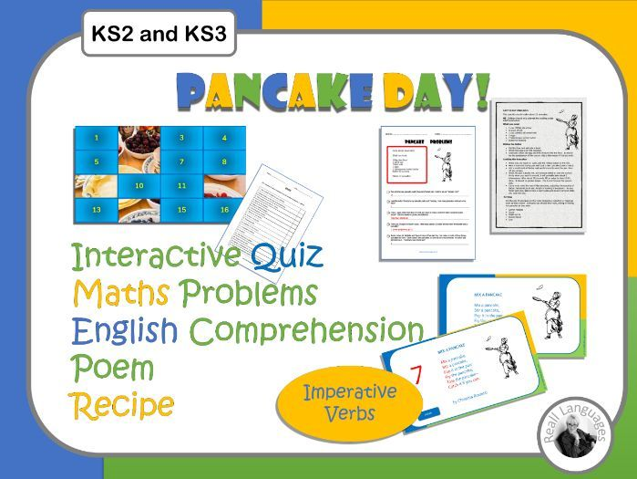 Pancake Day - Cross Curricular Resources.  Maths Word Problems, English Comprehension, Cooking