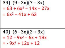 GCSE Maths - 50 Q & A - Expanding Double Brackets - Quadratics