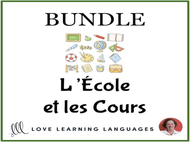 L'École et les Cours - School - Bundled French Resources