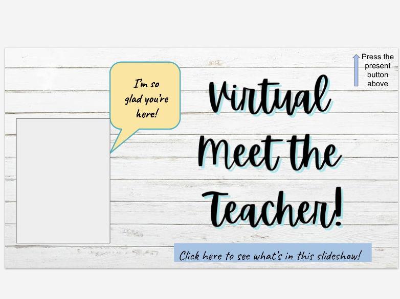 Virtual Meet the Teacher PPT