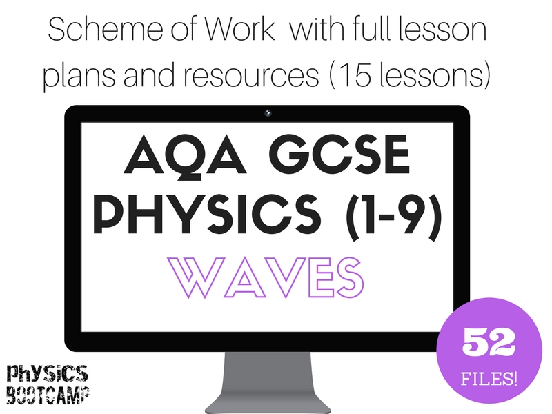 AQA GCSE Physics (1-9) WAVES Scheme of Work (full lesson plans and resources - 15 lessons)