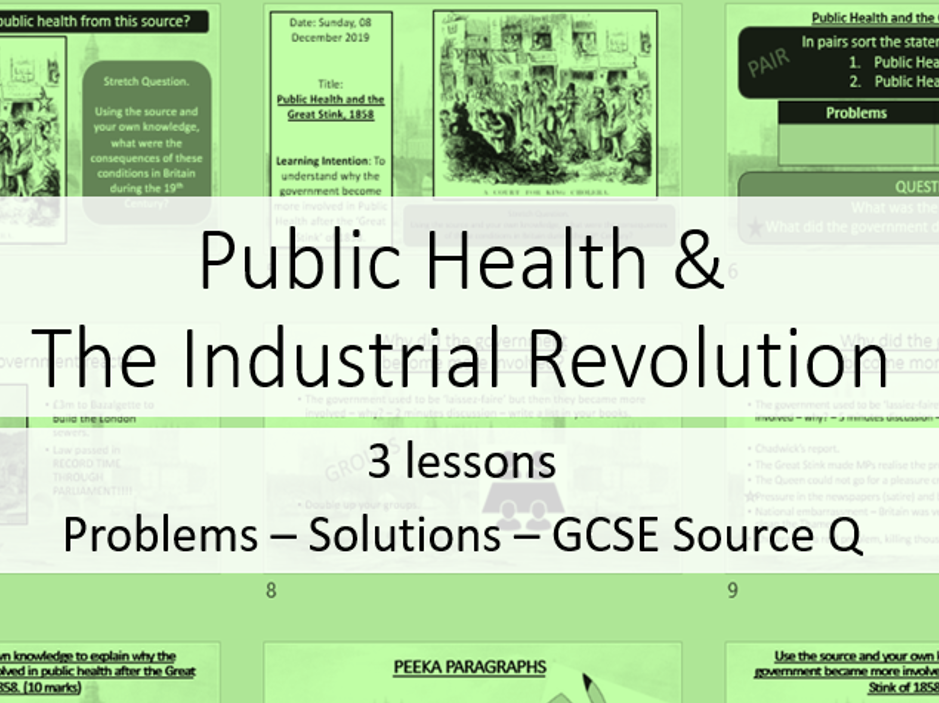 Public Health & The Industrial Revolution - 3 lessons