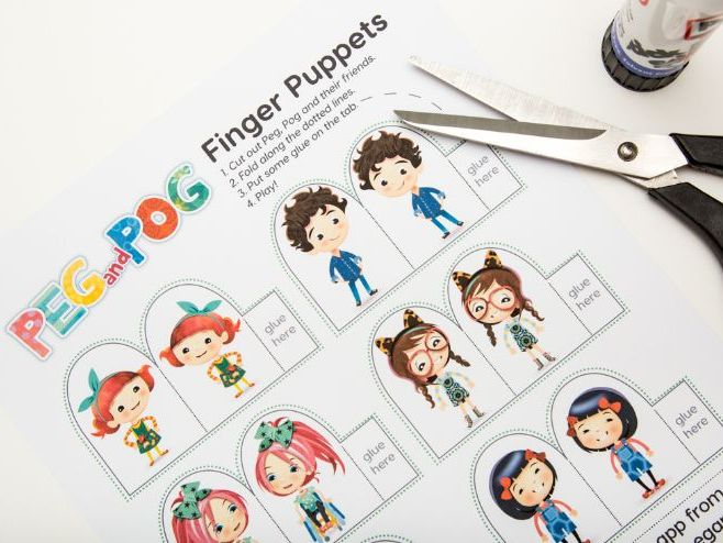 Finger Puppets - Peg and Pog: a Language Learning App for Kids