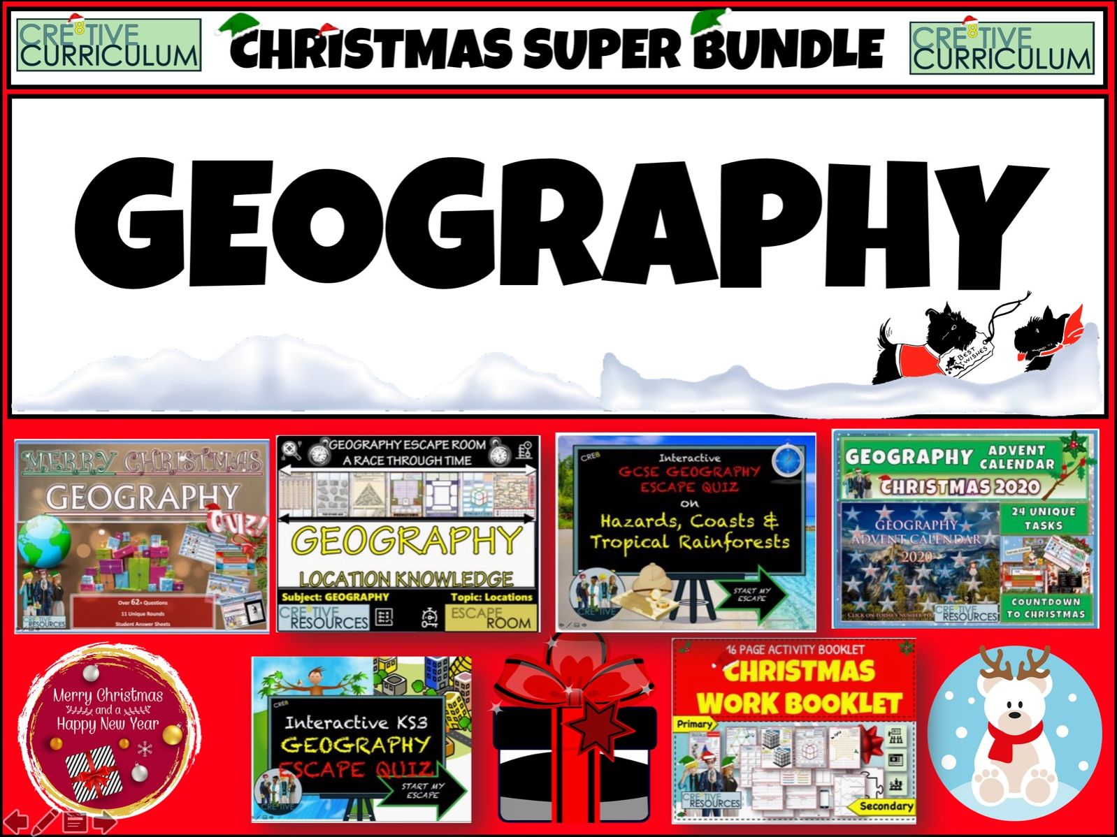 Geography Christmas Quiz Bundle