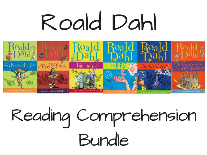 Roald Dahl Reading Comprehension Bundle