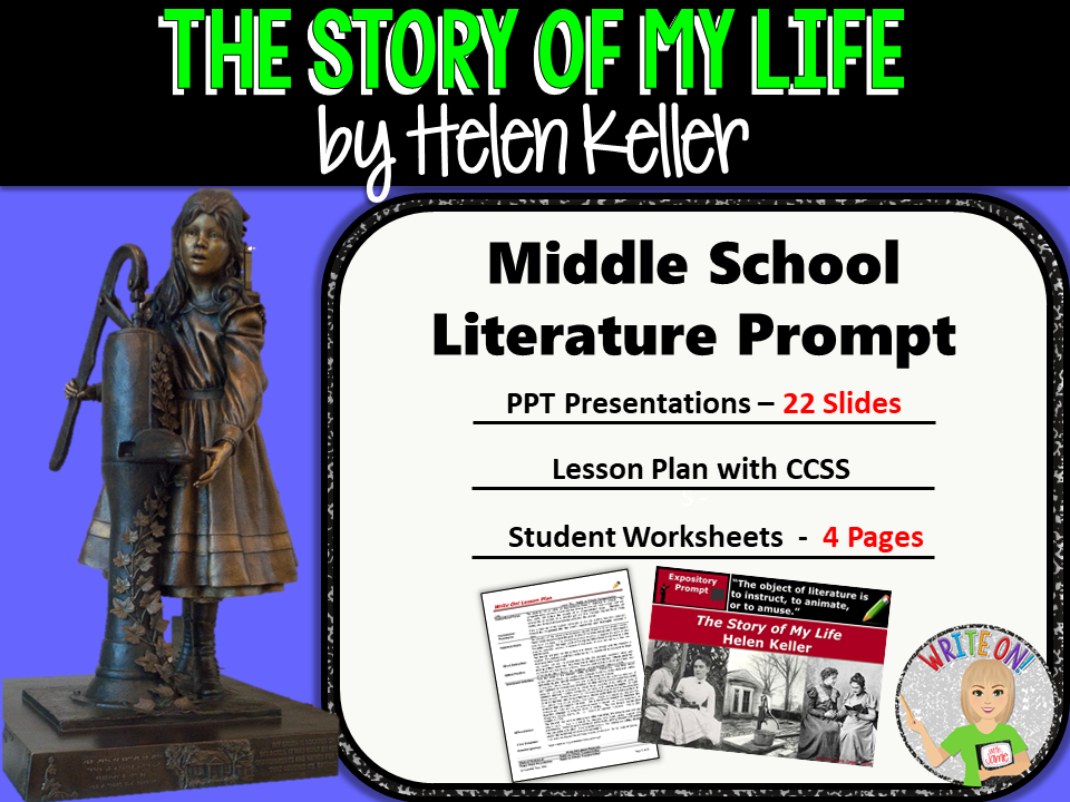 The Story of My Life by Helen Keller - Text Dependent Analysis Expository Writing