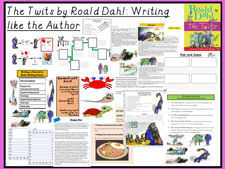 The Twits by Roald Dahl-Writing a Chapter like the Author (Mr & Mrs Twit's Tricks)