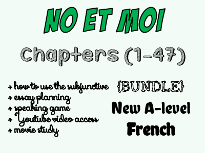 No et moi - BOOK STUDY - Etude des chapitres 1 à 47 - Worth more than £66!! *More than £29 of OFFERED resources*