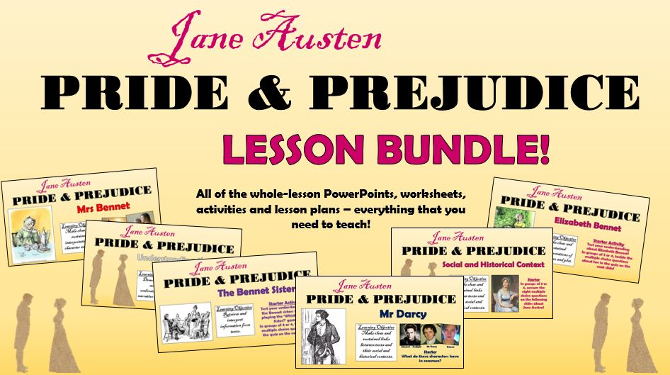 Pride and Prejudice Lesson Bundle!