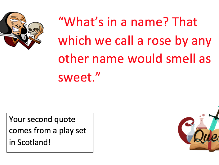 Shakespeare Quote Quest
