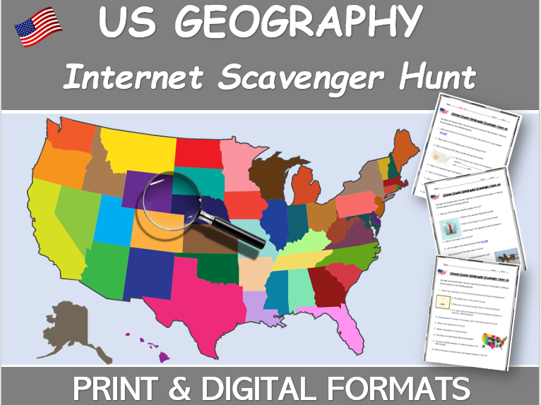 Geography of the United States - INTERNET SCAVENGER HUNT