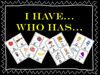 Letter Recognition Game: I have..., Who has...