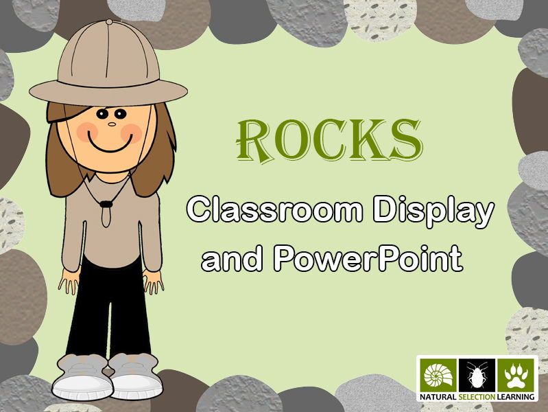 Rocks Classroom Display and A-Z PowerPoint KS2