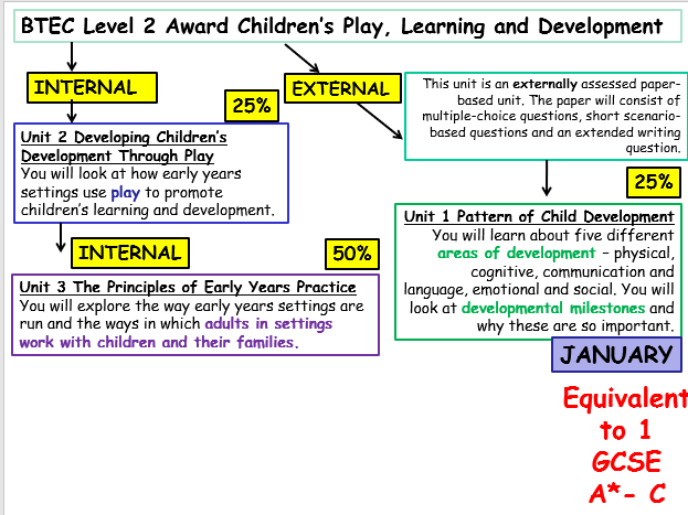 BTEC Children's Play, Learning and Development L2 Unit 2: Promoting Development Through Play WHOLE UNIT