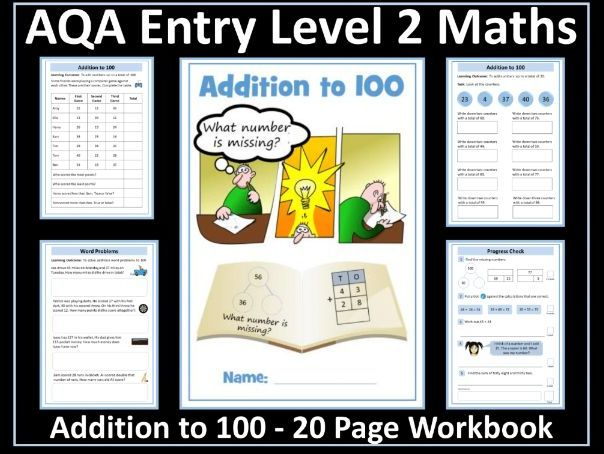 Addition to 100 -  AQA Entry Level Maths