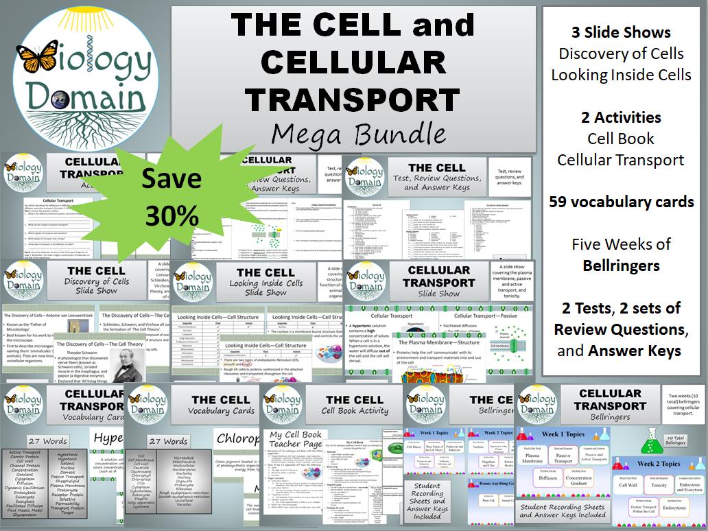 The Cell and Cellular Transport Mega Bundle Save 30%!