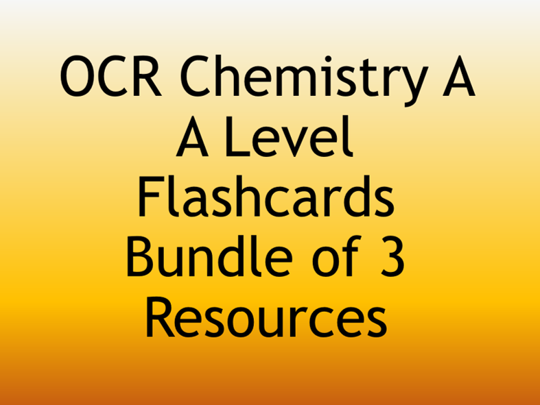 Printable Flashcards for Chemistry A-Level Key Word Definitions