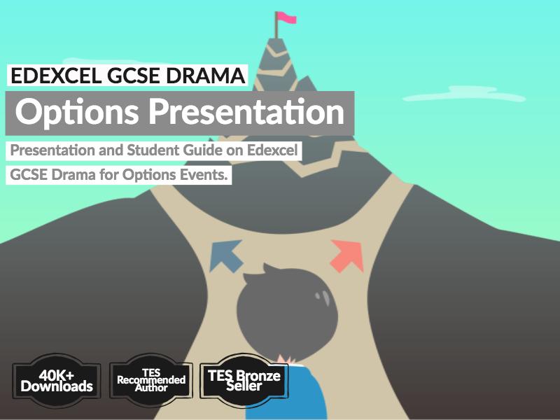 Edexcel GCSE Drama Options Presentation and Student Guide