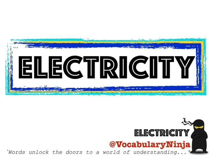 Electricity Topic Vocabulary Pack