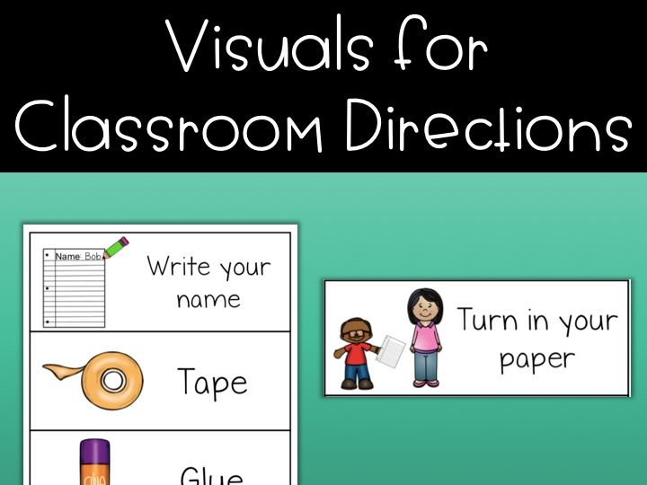 Visuals for classroom directions - ESL