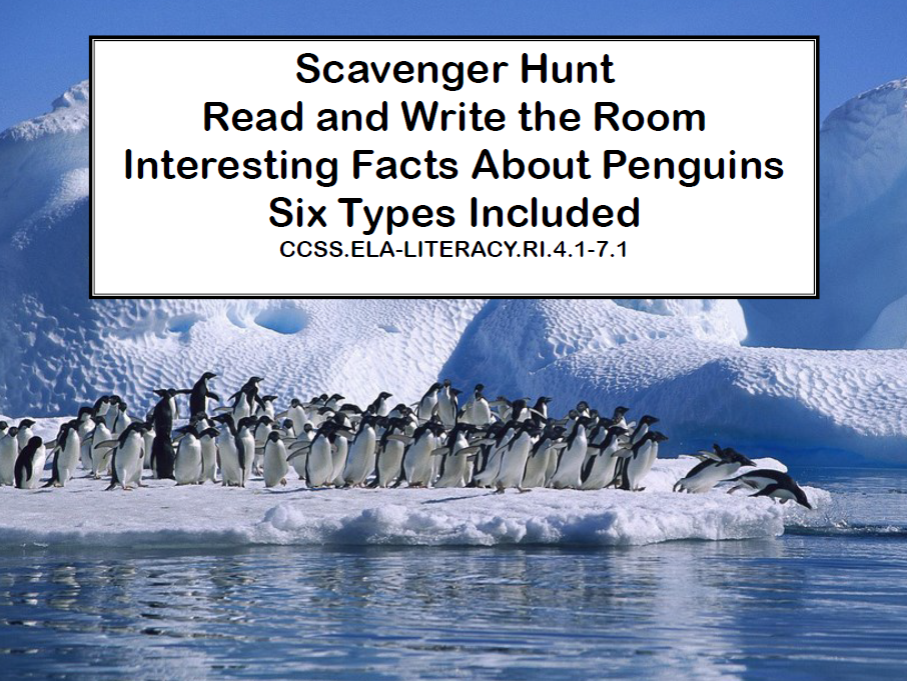 Penguins-Interesting facts About Six Different Types-Reading-Grades 4-7