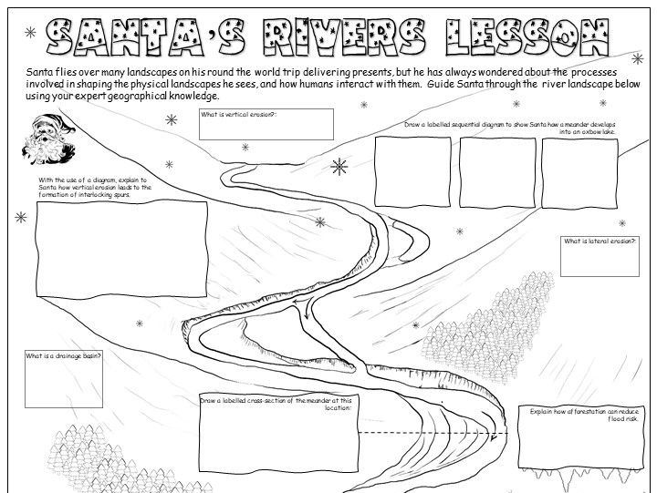 GCSE Geography Xmas Activities: Rivers