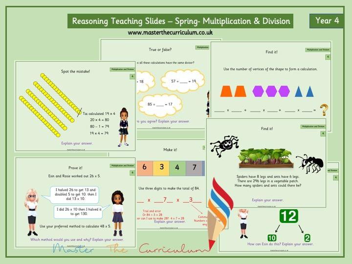 Year 4- Spring- Block 1- Multiplication & Division Reasoning Teaching Slides -White Rose Style