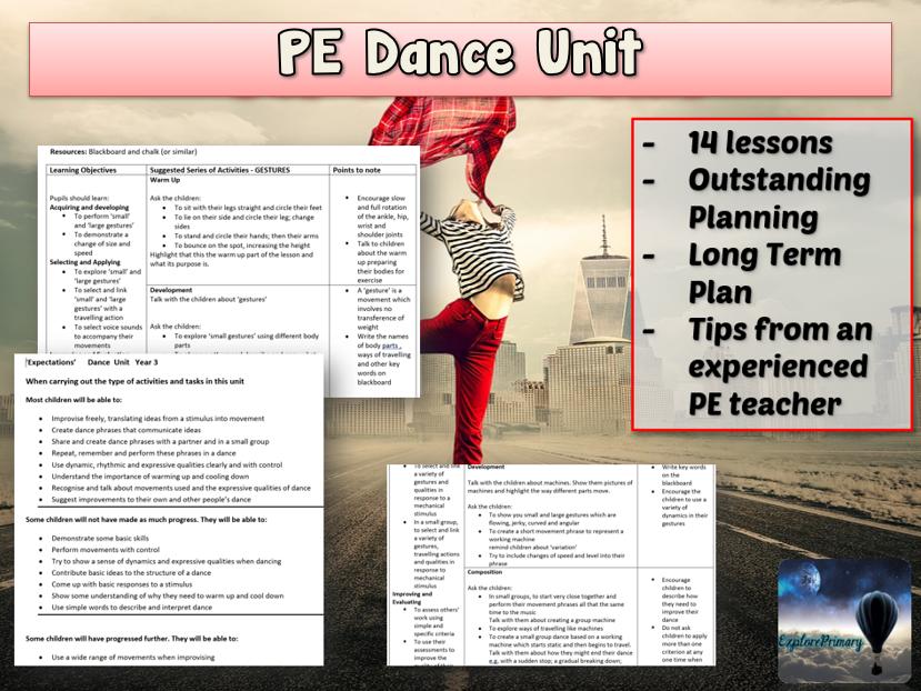 PE Dance Unit  - 14 lessons