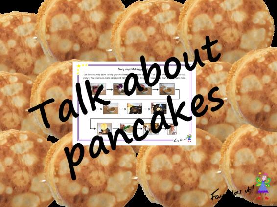 Talk about pancake making - homework aid