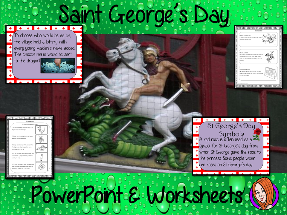 Saint George's Day   -  PowerPoint and Worksheets